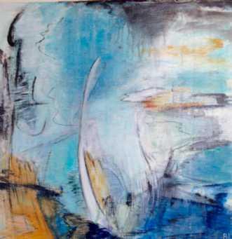 Blue Flame by Birgit Langborg | maleri