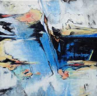 Blue Riff II by Birgit Langborg | maleri