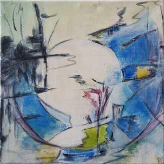 Blue Circle by Birgit Langborg | maleri