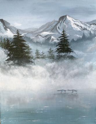 Tidligt om morgenen.. by Brigita Korsakiene | maleri