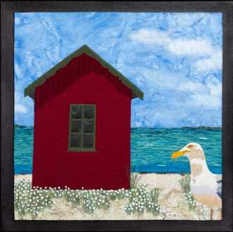 Badehytte på Ærø 4 by Tina Sommer Paaske | tekstilkunst