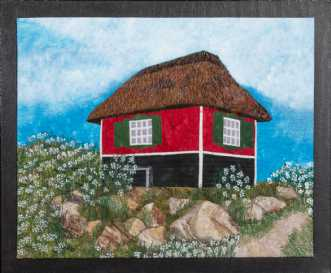 Badehytte på Ærø 3 by Tina Sommer Paaske | tekstilkunst