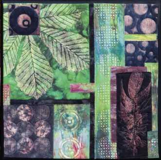 'Efterårs collage 3.. by Tina Sommer Paaske | tekstilkunst