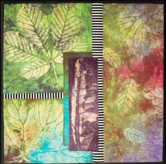 'Efterårs collage 4.. by Tina Sommer Paaske | tekstilkunst
