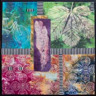 'Efterårs collage 2.. by Tina Sommer Paaske | tekstilkunst