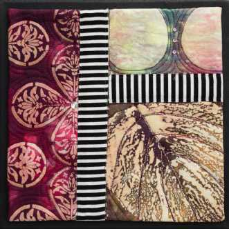 'Efterårs collage 5.. by Tina Sommer Paaske | tekstilkunst