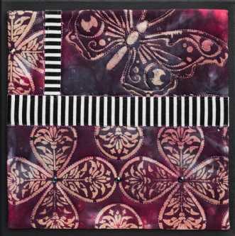 'Efterårs collage 6.. by Tina Sommer Paaske | tekstilkunst