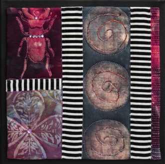 'Efterårs collage 7.. by Tina Sommer Paaske | tekstilkunst