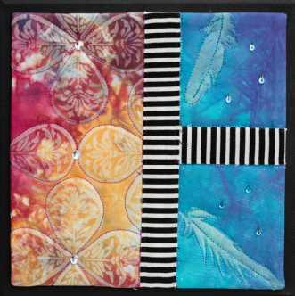 'Efterårs collage 8.. by Tina Sommer Paaske | tekstilkunst