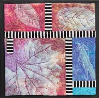 'Efterårs collage 9.. by Tina Sommer Paaske | tekstilkunst