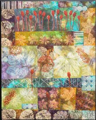 'Efterårs collage 1.. by Tina Sommer Paaske | tekstilkunst