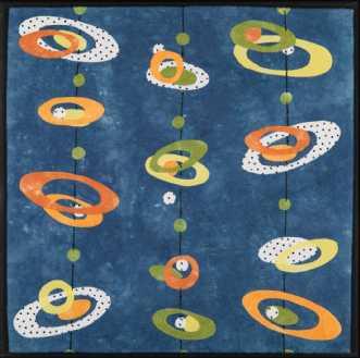 'Min retro serie 2' by Tina Sommer Paaske | tekstilkunst