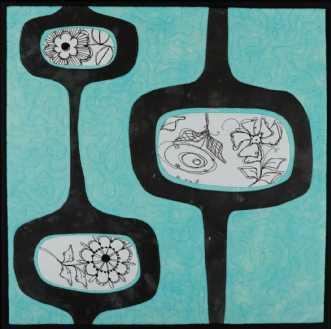'Min retro serie 3' by Tina Sommer Paaske | tekstilkunst