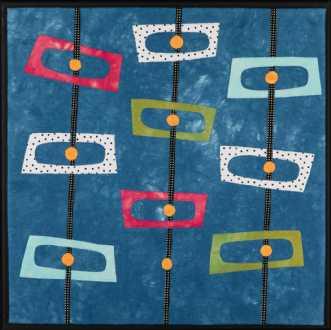 'Min retro serie 4' by Tina Sommer Paaske | tekstilkunst