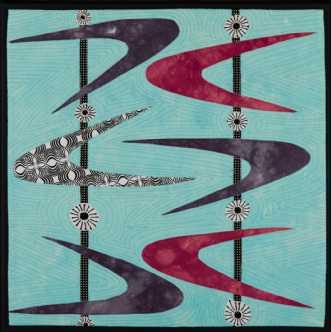 'Min retro serie 5' by Tina Sommer Paaske | tekstilkunst