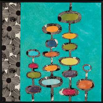'Min retro serie 7' by Tina Sommer Paaske | tekstilkunst