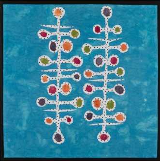 'Min retro serie 9' by Tina Sommer Paaske | tekstilkunst