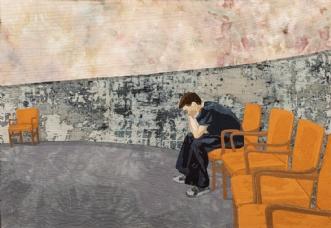 'Ensomhed' by Tina Sommer Paaske | tekstilkunst