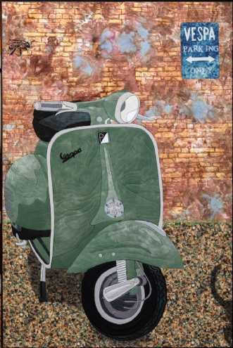 Vespa by Tina Sommer Paaske | tekstilkunst