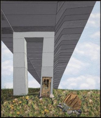 'Under broen' by Tina Sommer Paaske | tekstilkunst