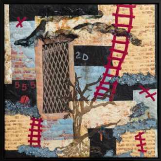 Barndommens gade by Tina Sommer Paaske | tekstilkunst