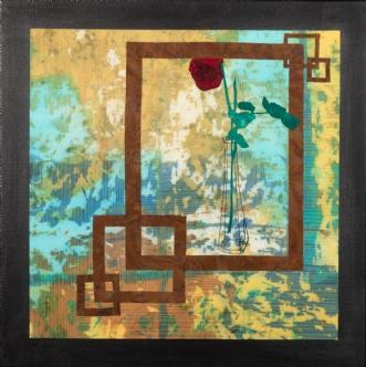 En rose by Tina Sommer Paaske | tekstilkunst