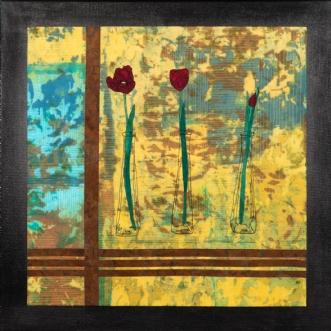 Tre tulipaner by Tina Sommer Paaske | tekstilkunst