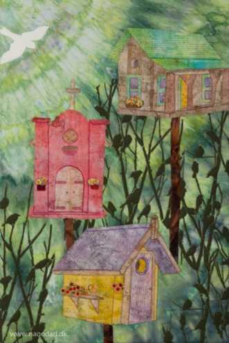 Birdtown by Tina Sommer Paaske | tekstilkunst