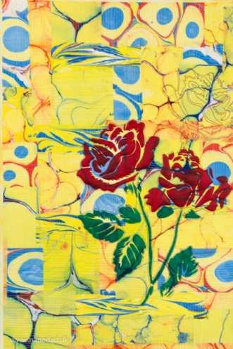 Tre roser by Tina Sommer Paaske | tekstilkunst