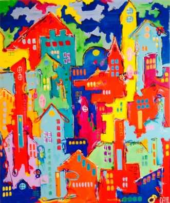 Huse 220 by Daisy Dahl | maleri