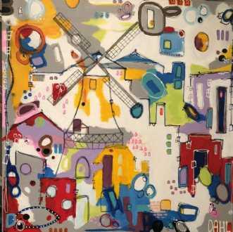 Møllen by Daisy Dahl | maleri