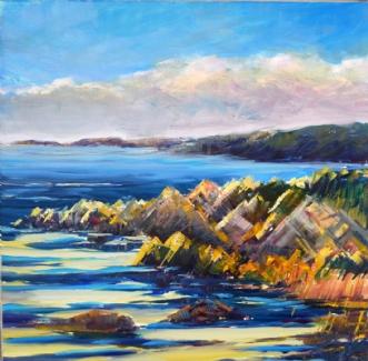 Bornholm ved Tegn  by Peter Witt | maleri
