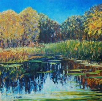 Efterår sø Gribskov by Peter Witt | maleri