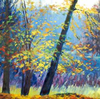 Efterår Skov by Peter Witt | maleri