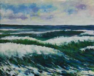 Bølger by Peter Witt | maleri