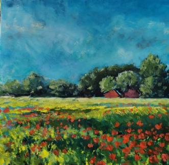 Valmuer by Peter Witt | maleri