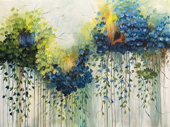 Blue Rainbow by Eva Vig | maleri