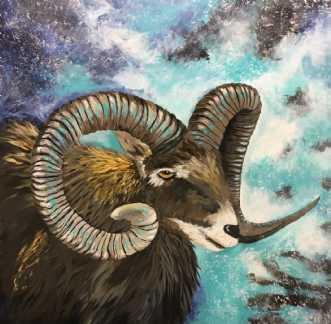 Muflon by Eva Vig | maleri