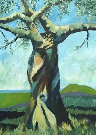 Livets mærker by Eva Vig | maleri