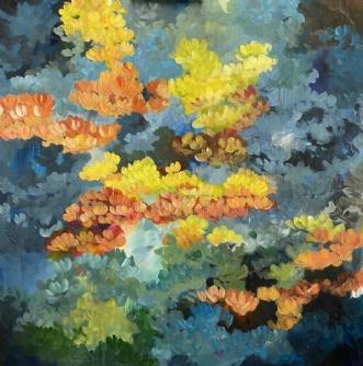Efterår by Eva Vig | maleri