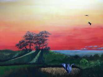 Længsel by Eva Vig | maleri