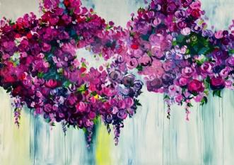 Roses by Eva Vig | maleri
