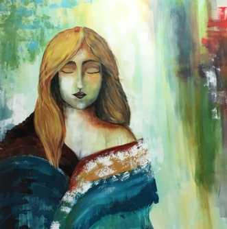 Madonna by Eva Vig | maleri