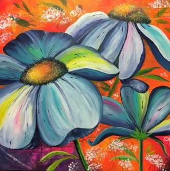 Blomster i XL by Eva Vig | maleri