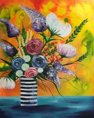 Blomster i K-vase by Eva Vig | maleri