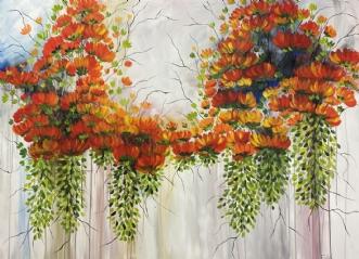 Let som en fjer by Eva Vig | maleri