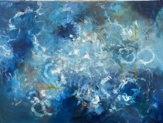 Deep inside by Eva Vig | maleri