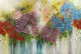 Blomsterregn by Eva Vig | maleri