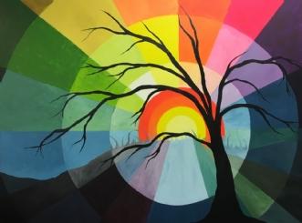 I østen stiger sole.. by Eva Vig | maleri