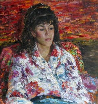 Portræt af en ung dameafMisha Lapitskiy